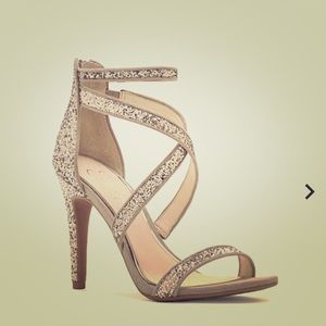 Jessica Simpson Champagne Glitter Sandel